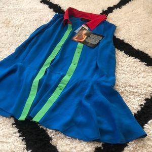NWT IMAN Colorful Sleeveless Blouse